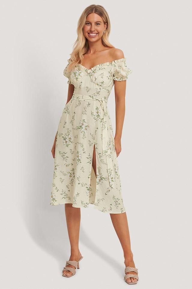 Off Shoulder Midi Dress Outfit