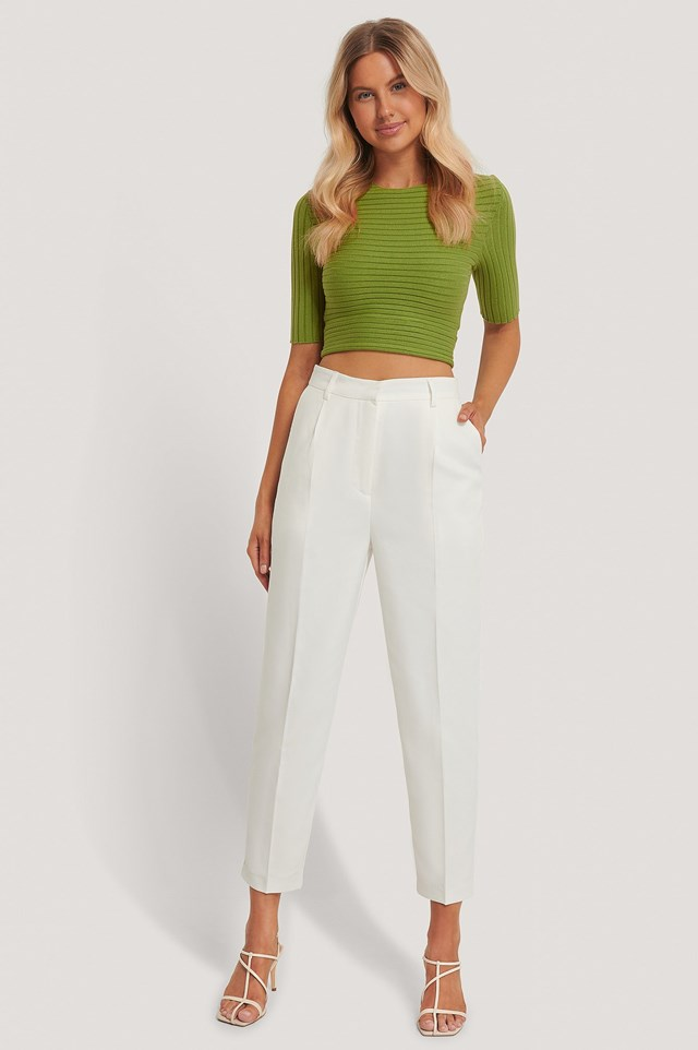Tie Back Mid Sleeve Top Outfit