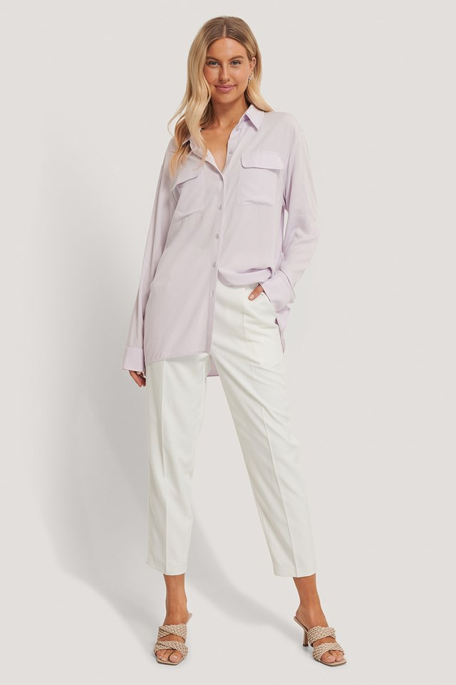 Oversized Front Pocket Shirt Outfit