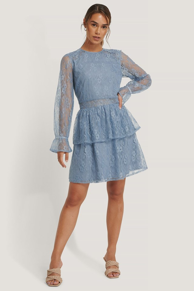 All Over Lace Mini Dress Outfit