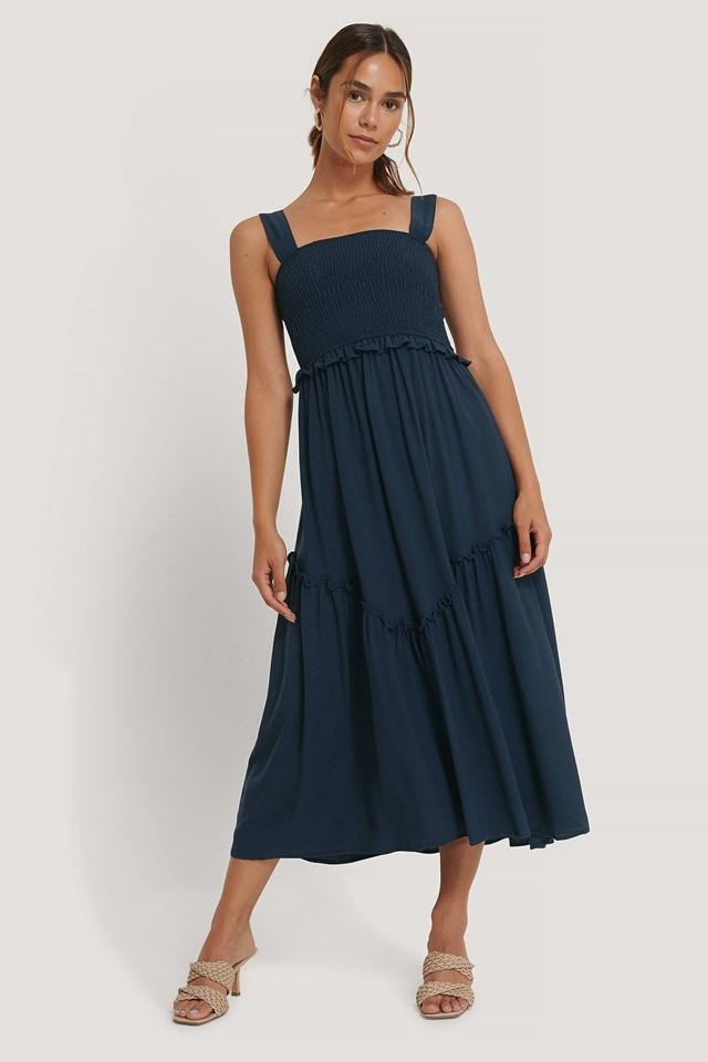 Gipe Detail Midi Dress Outfit