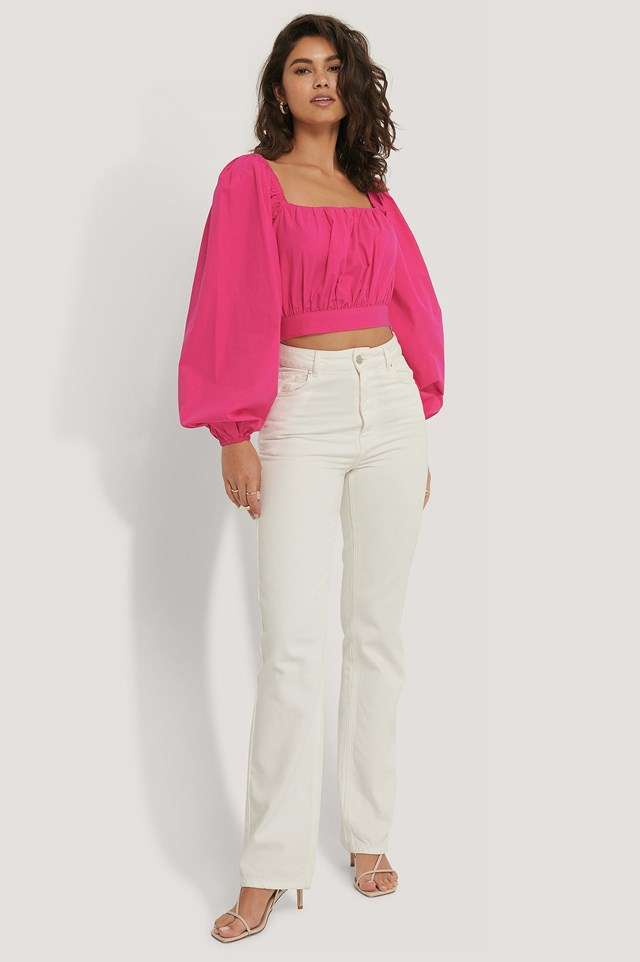 Balloon Arms Blouse Outfit