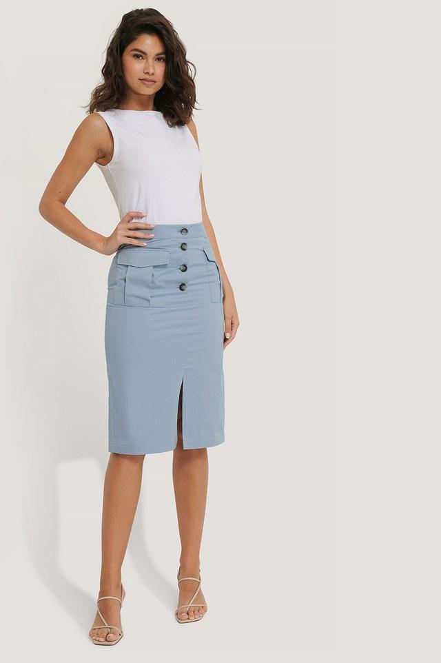 Pocket Midi Skirt Outfit