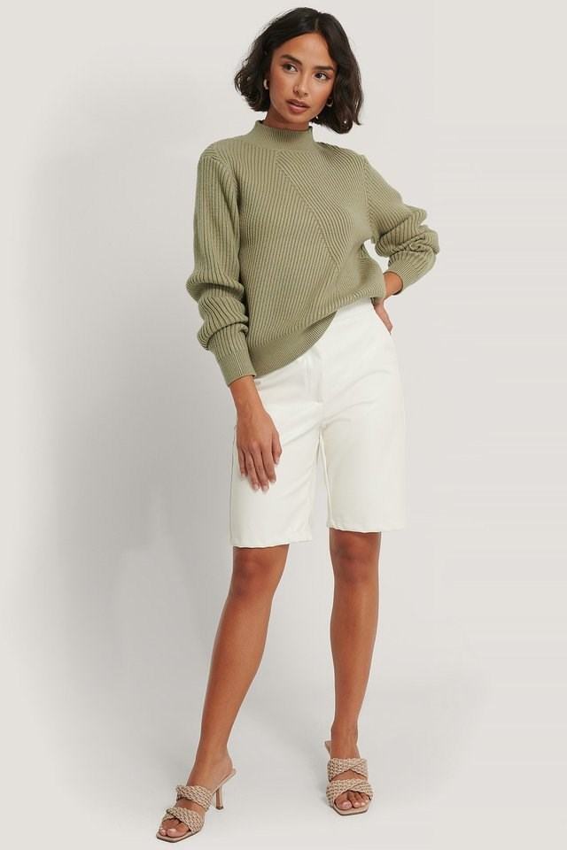 Diagonal Detail Knitted Sweater