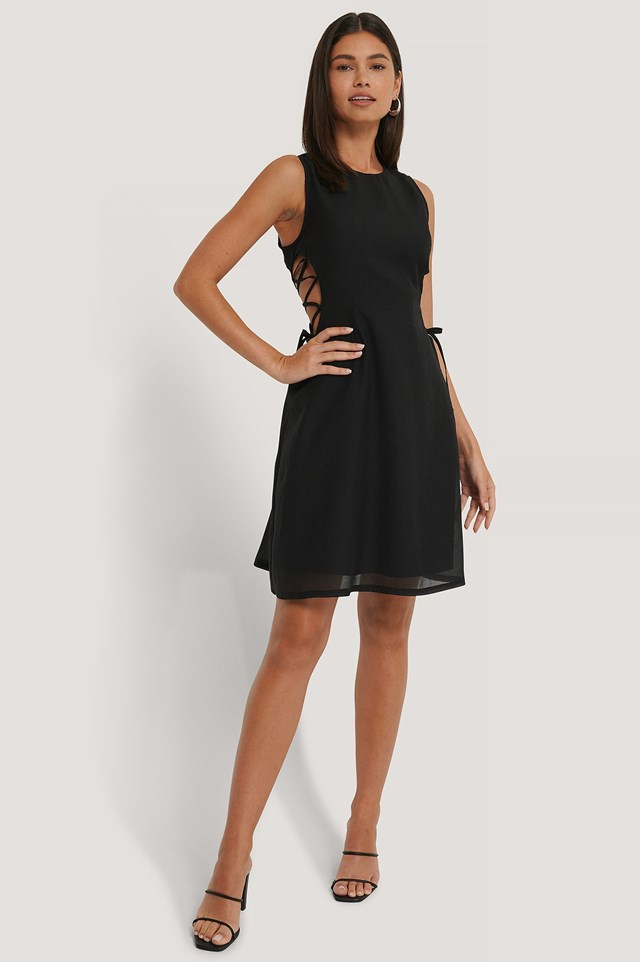 Lacing Detailed Dress Outfit