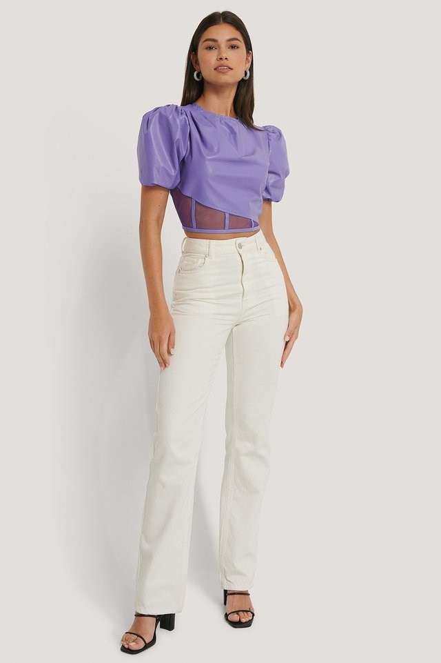 Bottom Detail Pu Top Outfit