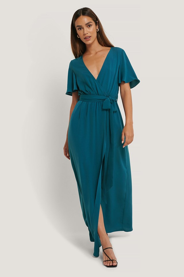 Deep Front Maxi Dress Outfit