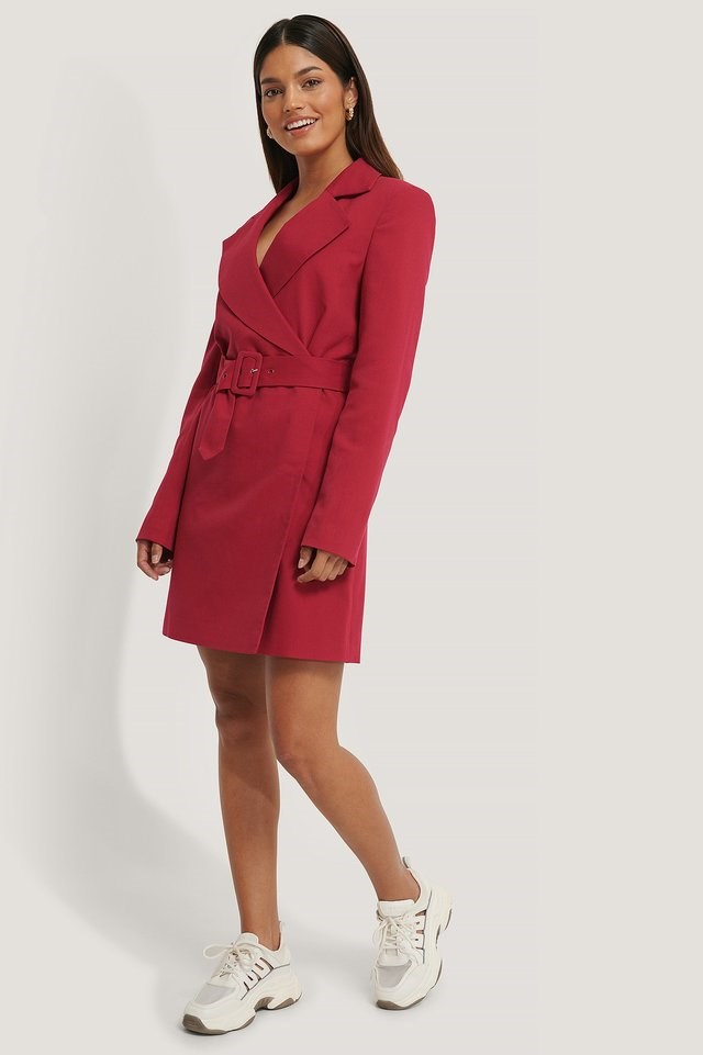 Power Shoulder Blazer Dress