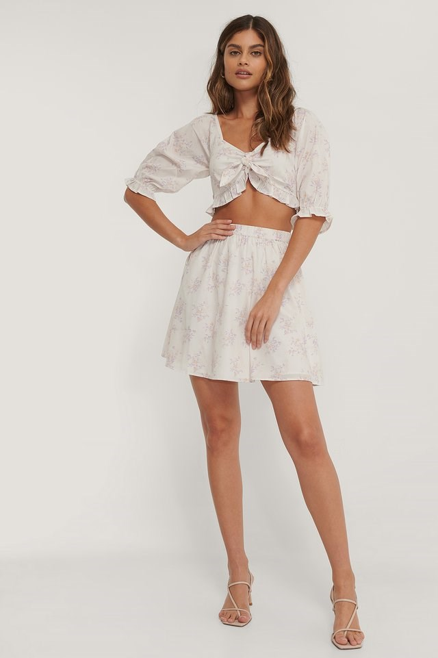 Puff Sleeve Frill Top