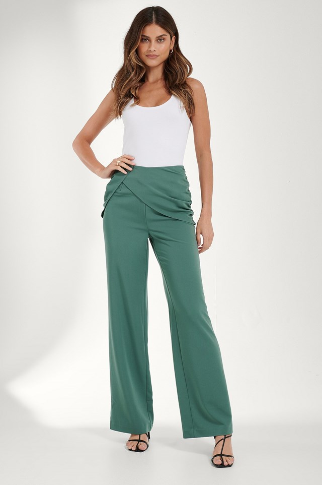 Draped Detail Pants Outfit