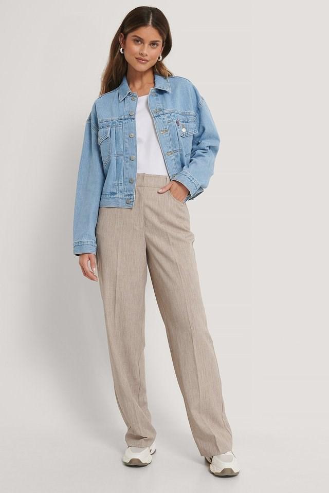 Wide Leg Suit Pants