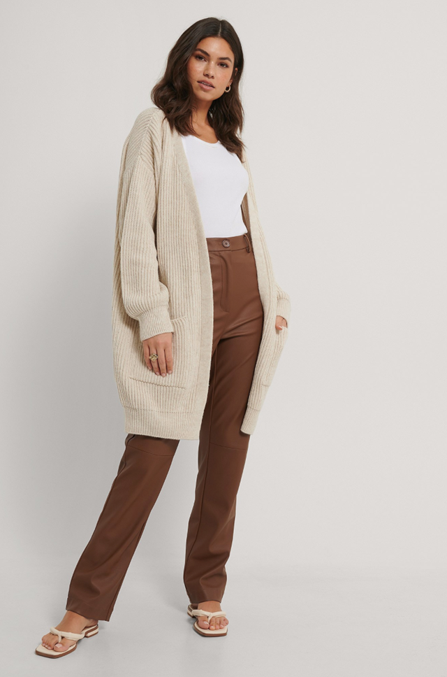 Knitted Midi Length Cardigan