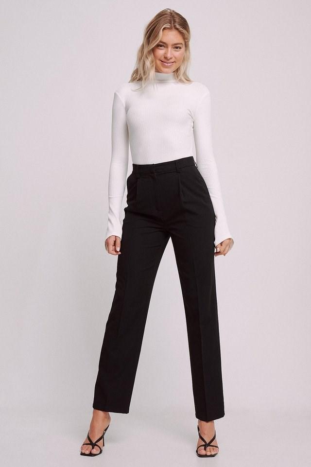 Straight Suit Pants