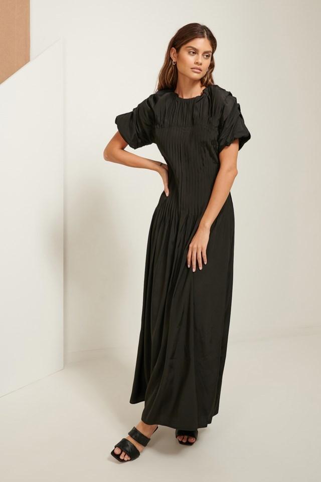 Pintucked Dress