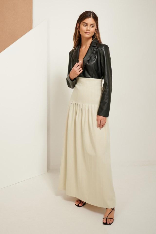 Darted Maxi Skirt