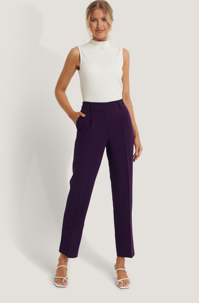 Mid Rise Suit Pants