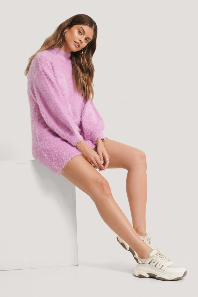 Chunky Knitted Fuzzy Dress