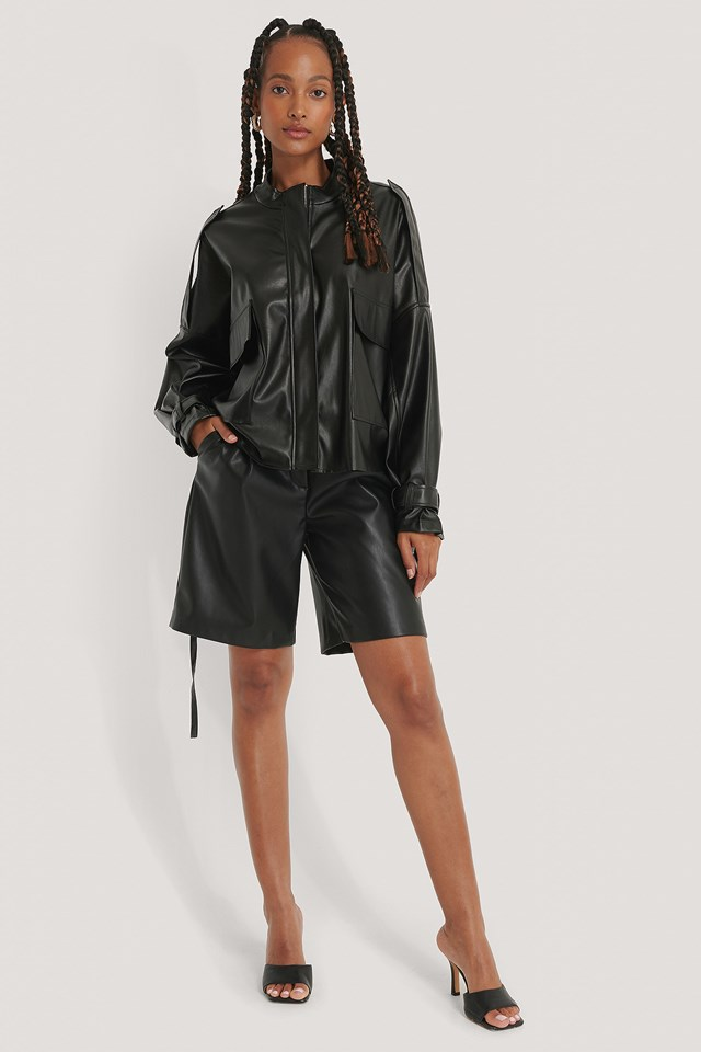 Oversized Soft PU Jacket
