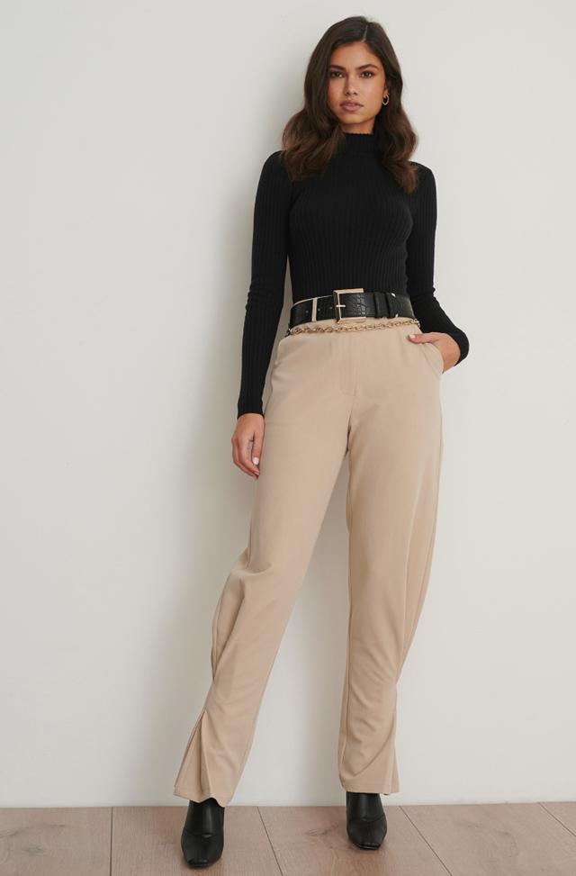Slim Ankle Suit Pants