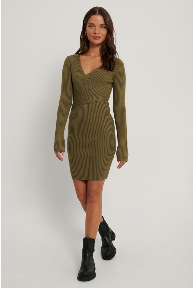 Ribbed Knitted Dress