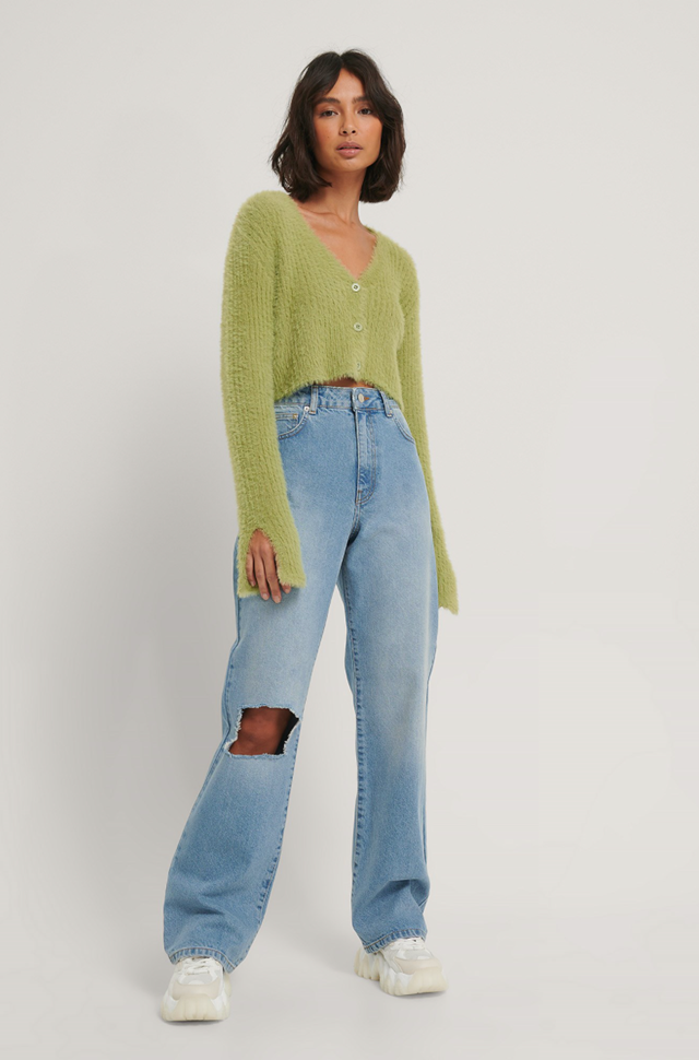 Cropped Knitted Cardigan