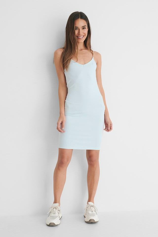 Chain Detail Mini Dress outfit.