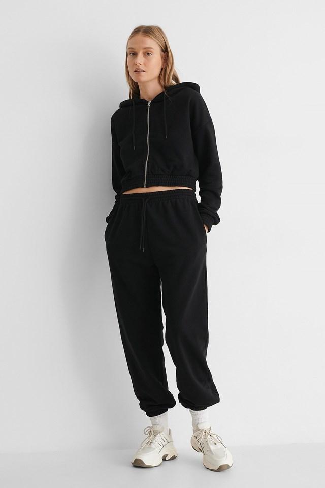 Zip Detail Hoodie Outfit.