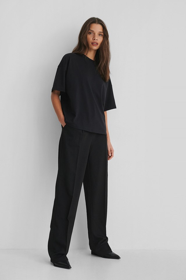 3/4 Sleeve Oversized T-shirt Outfit.