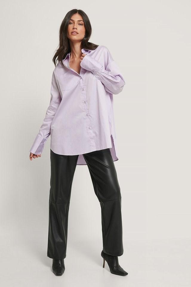 Oversized Pocket Shirt Outfit.