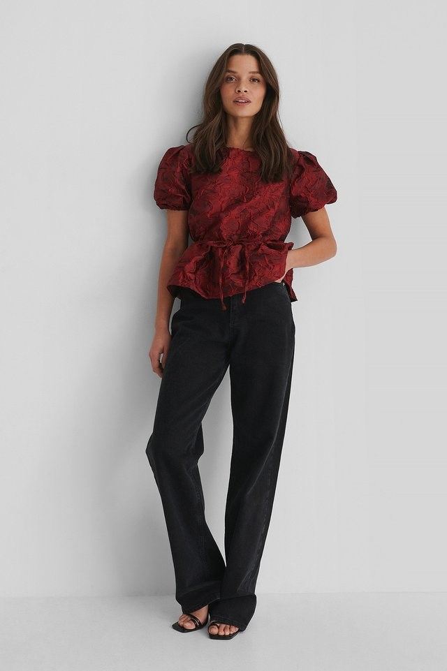 Structured Drawstring Top Outfit.