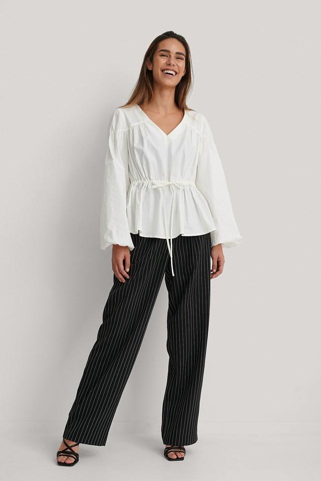 Cotton Detail Blouse Outfit.
