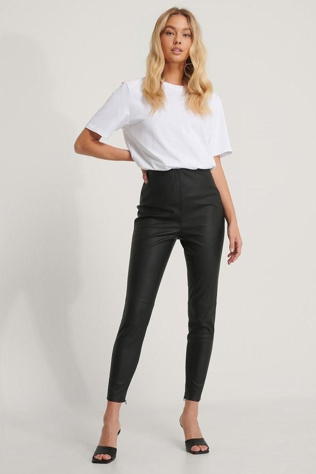 PU Leggings Outfit.