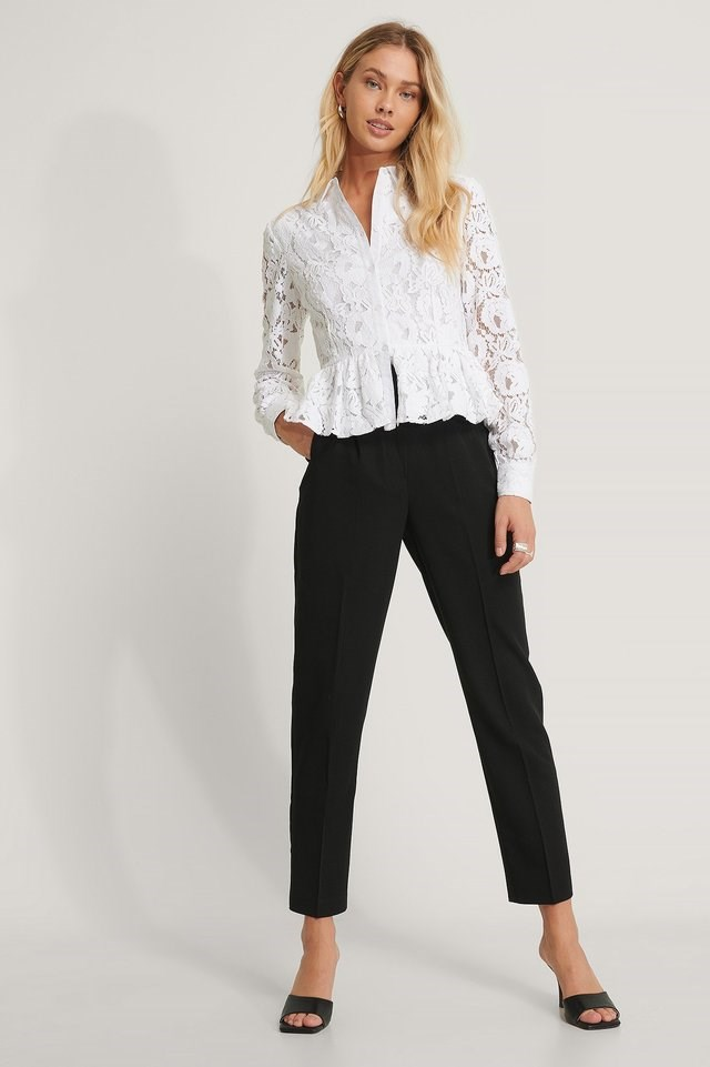 Lace Collar Blouse Outfit.