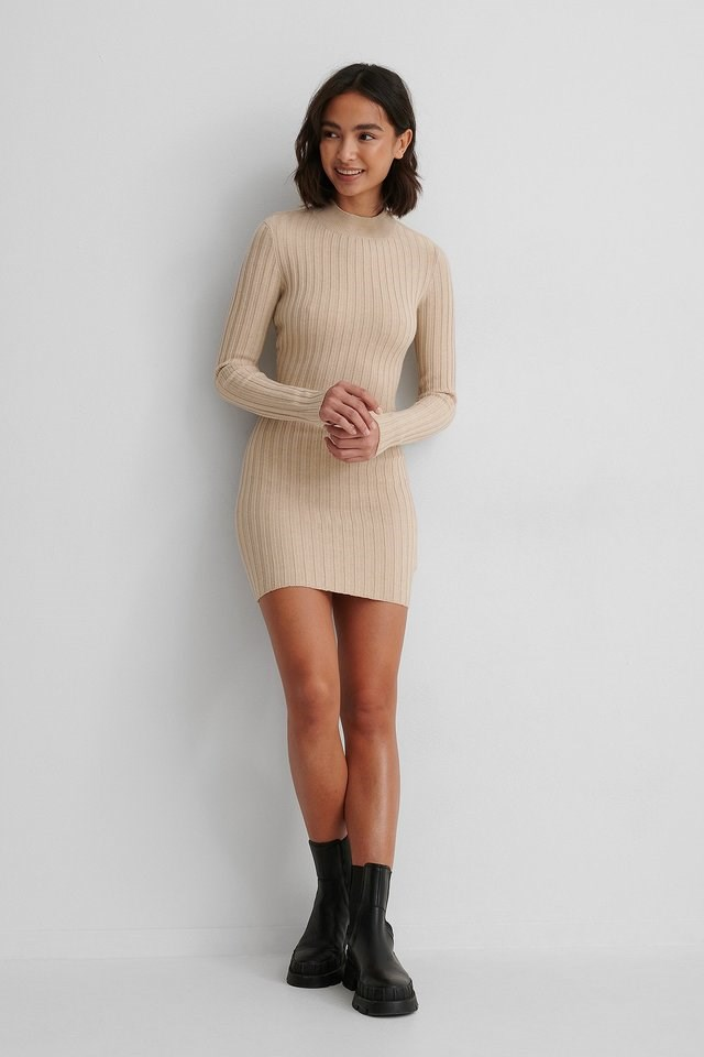 Twisted Back Mini Dress Outfit.