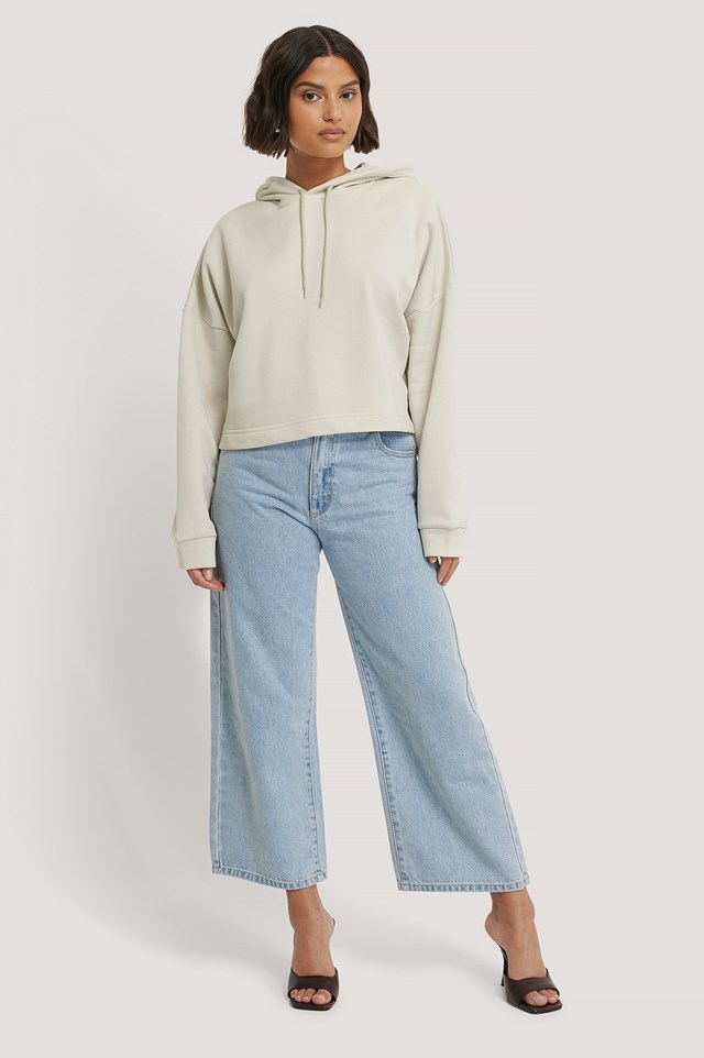 Basic Cropped Hoodie Outfit.