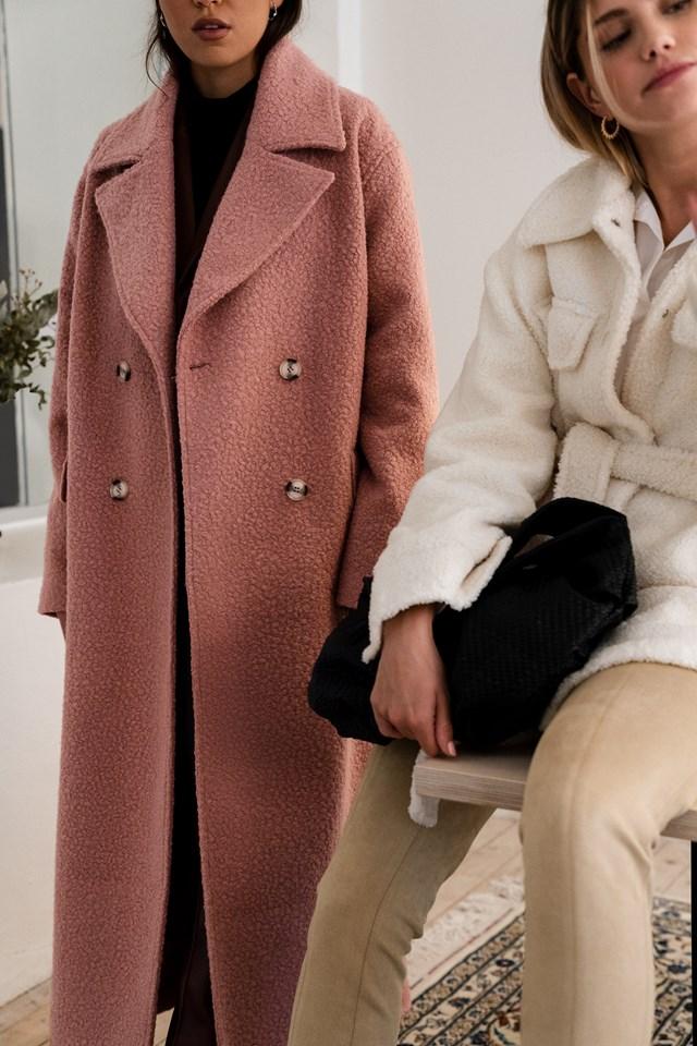 Pink Oversized Maxi Coat.