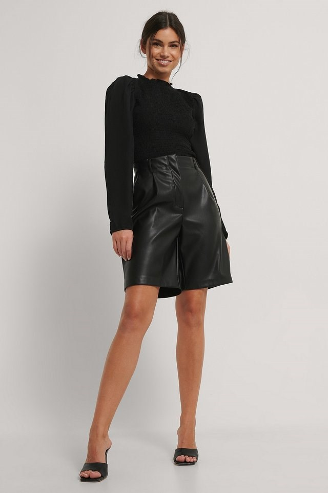Long Sleeve Smock Blouse Outfit.