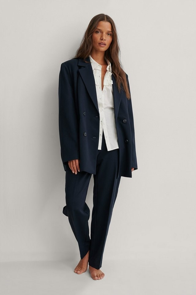 Frill Detail Shirt Outfit.