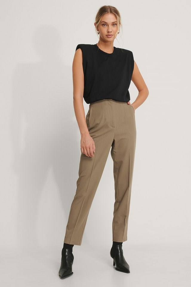 Darted Pants Outfit.