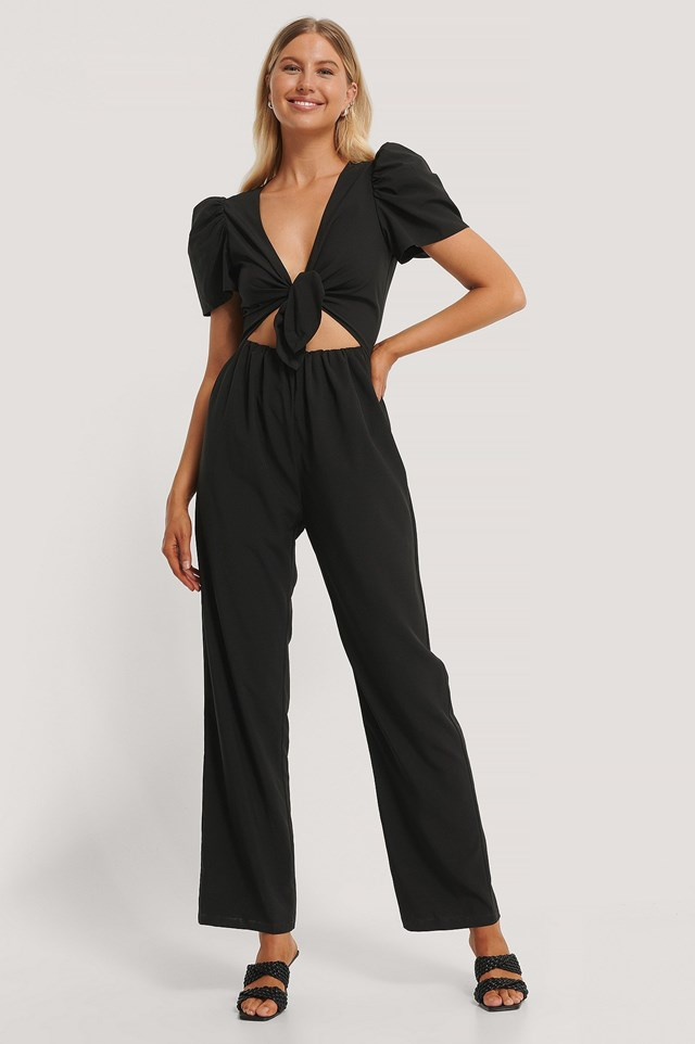 Tied Front Jumpsuit Outfit.