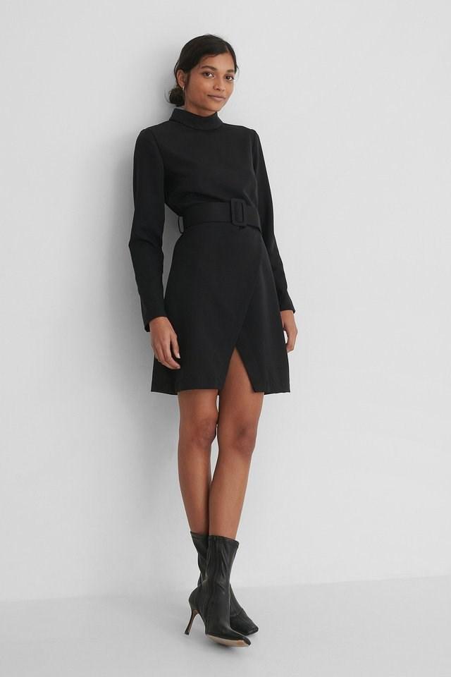 Belt Detail Mini Dress Outfit.