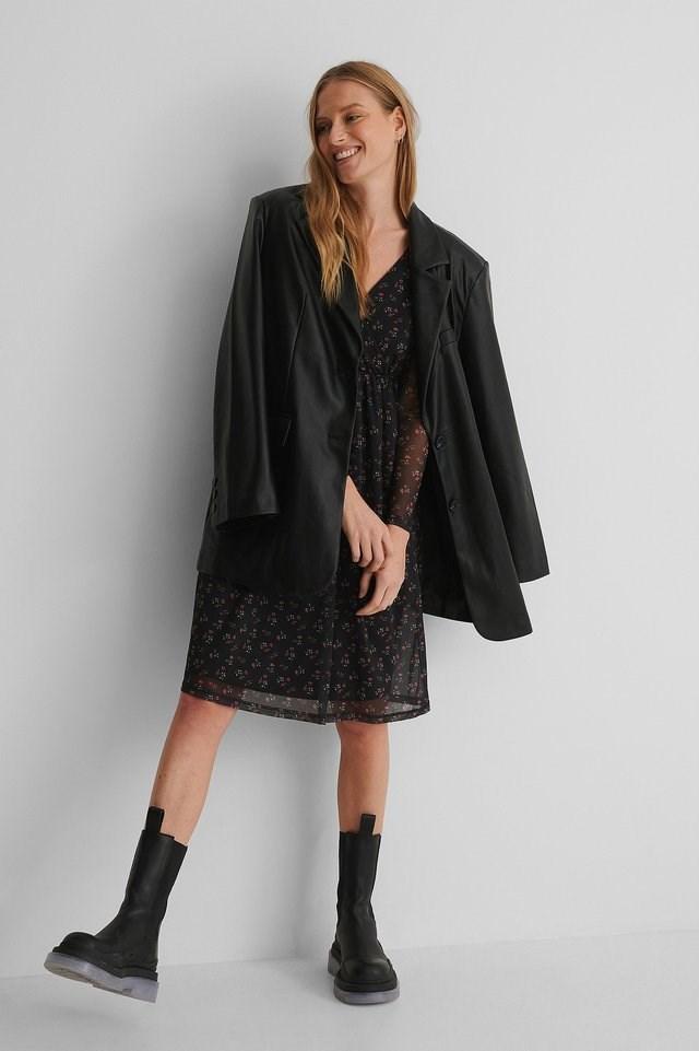 Wrap Mesh Dress Outfit.