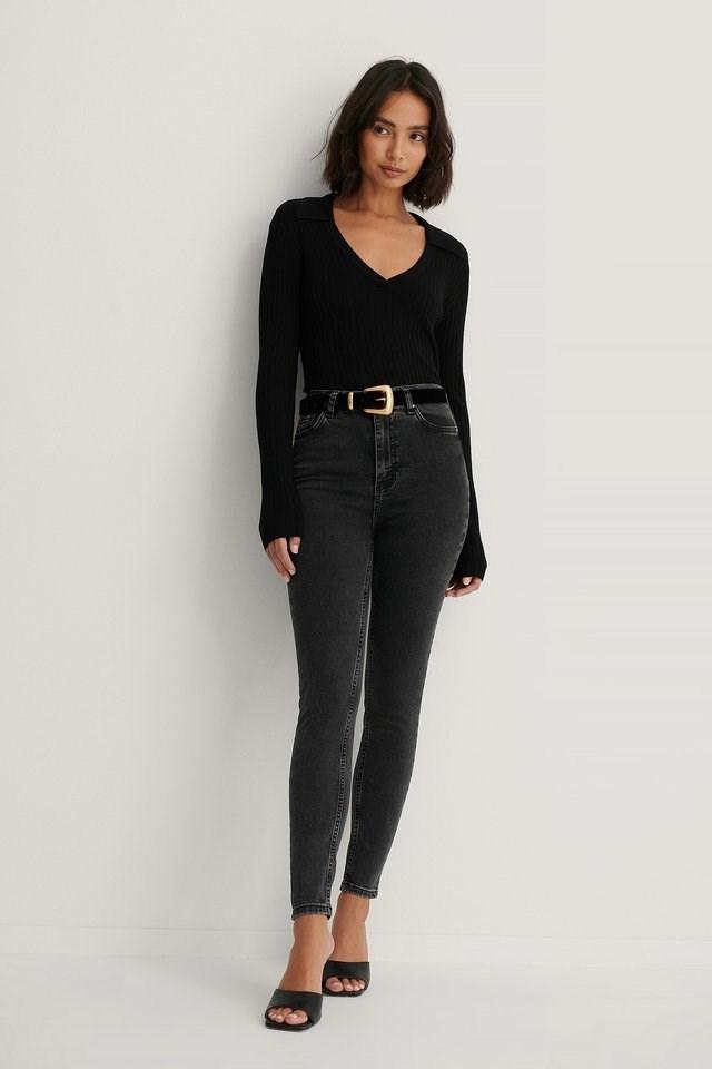 High Waist Skinny Jeans.