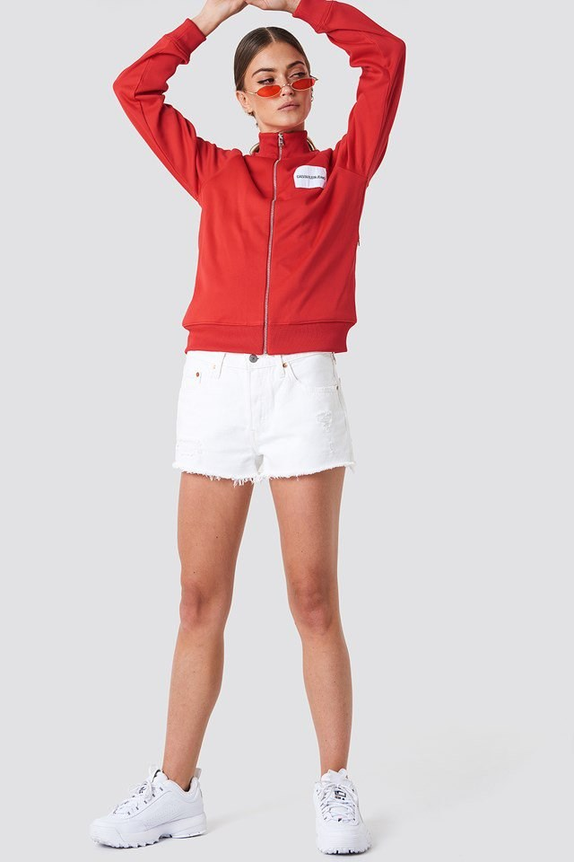 Zip Up Track Jacket Outfit
