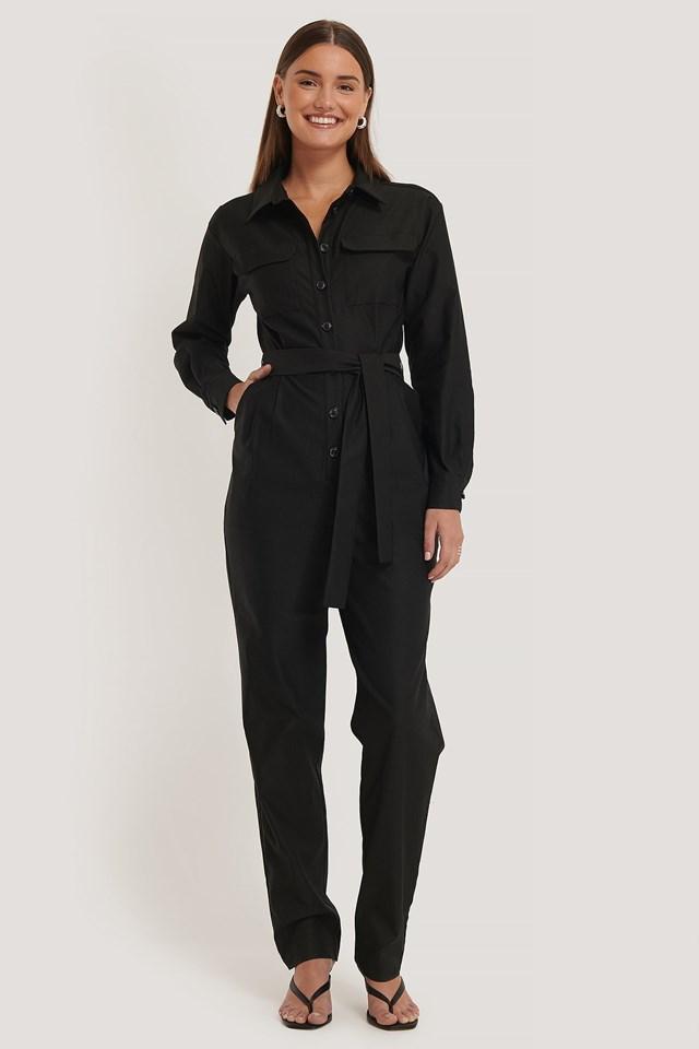 Front Pocket Jumpsuit Outfit.