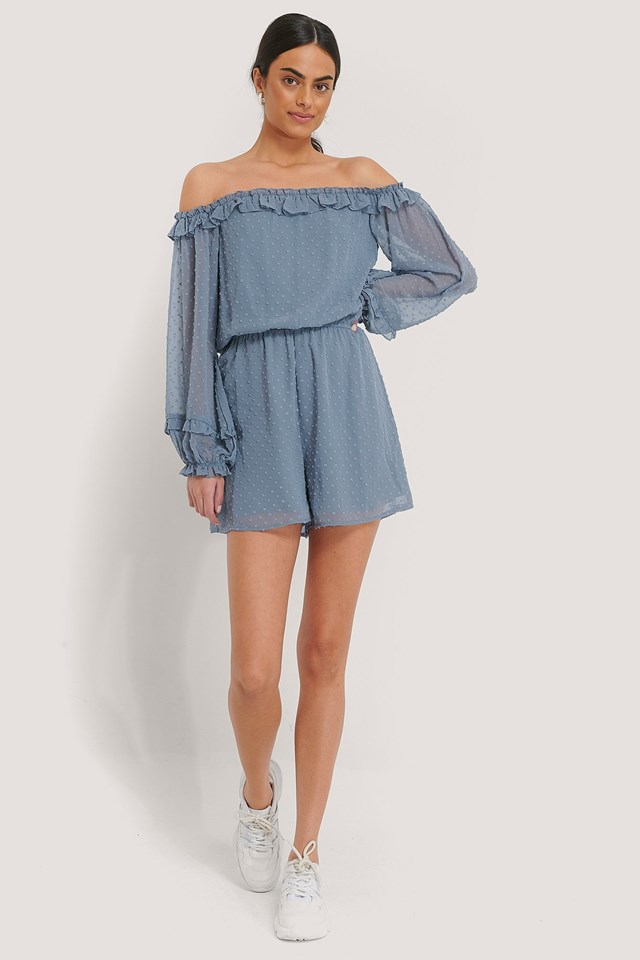 Dobby Playsuit Outfit.