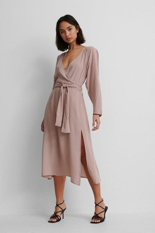 Long Sleeve Kimono Dress Outfit.