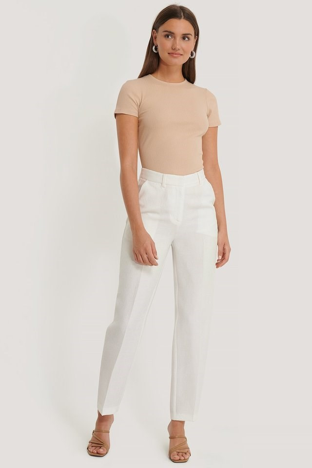 Ribbed Cut Out Top Outfit.