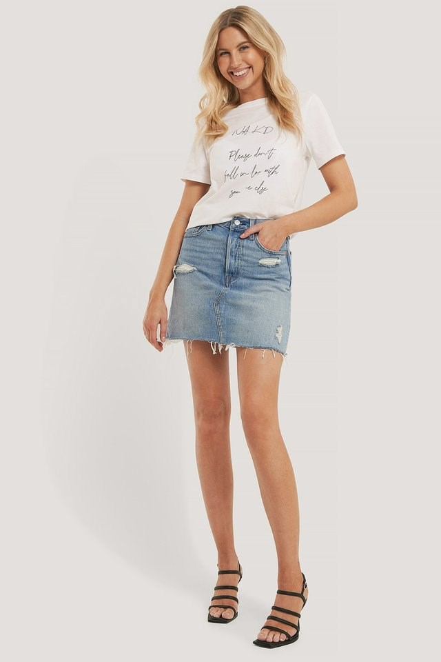 Organic Love Letter Tee Outfit.