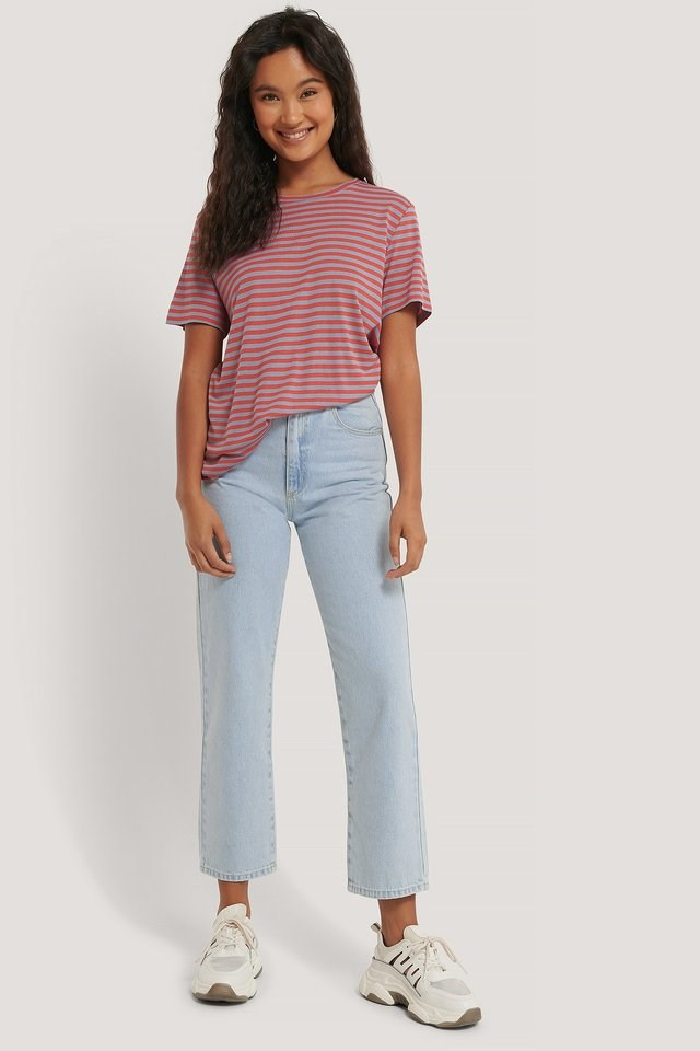 Striped Viscose Tee Outfit.